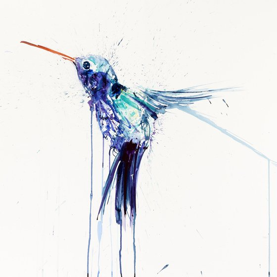 Humming Bird II (Blue)